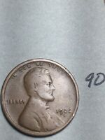 1922-D LINCOLN WHEAT CENT,  DATE, 90