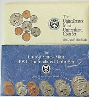 LOT OF 2 BRILLIANT UNCIRCULATED US COINS MINT SETS P AND D 1