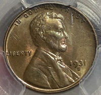 1931-S LINCOLN WHEAT CENT PENNY PCGS MINT STATE 64BN THE ST BN IVE SEEN LUSTER