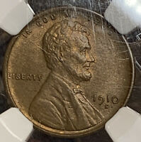 1910-S LINCOLN WHEAT CENT PENNY NGC MINT STATE 65BN SUBTLE HINTS OF RED  GRADE
