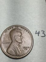 1923-S LINCOLN WHEAT CENT,  DATE, 43