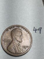 1923-S LINCOLN WHEAT CENT,  DATE, 49