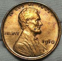 1910 LINCOLN WHEAT CENT CHOICE UNCIRCULATED DETAILS PHILADELPHIA MINT 1C COIN 2