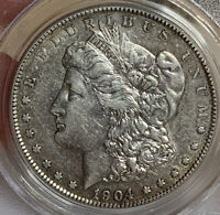 1904-S MORGAN SILVER DOLLAR PCGS EXTRA FINE 45 LATE DATE KEY MID GRADE