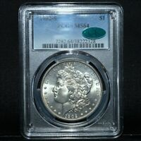 1902-S $1 MORGAN SILVER DOLLAR  PCGS MINT STATE 64 CAC  CHOICE UNCIRCULATED TRUSTED
