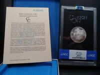 1881 CC MINT STATE 63 GSA HOARD MORGAN SILVER DOLLAR NGC CERTIFIED WITH BOX-COA/PQ/COLOR