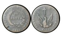 10 LEPTA 1831 GREECE COIN VARIETY 424 GOVERNOR KAPODISTRIAS  12 AUCTION FROM 1$