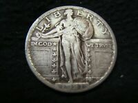 KEY DATE 1921 STANDING LIBERTY SILVER QUARTER ORIGINAL VF LOVELY COIN NEWPS
