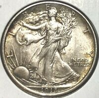 1918 WALKING LIBERTY SILVER HALF DOLLAR 50C MS LUSTROUS  BEAUTY,  THIS