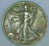 1939 WALKING LIBERTY HALF DOLLAR IN EXTRA FINE /AU CONDITION