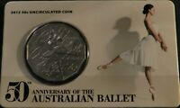 2012 50TH ANNIVERSARY OF AUSTRALIAN BALLET 50 CENT UN CIRCUL