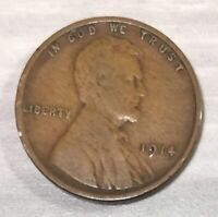 1914 LINCOLN WHEAT CENT, US ONE CENT COIN