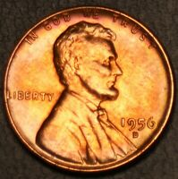 1956-D BU RED LINCOLN WHEAT CENT- 20531  SHIPS FREE