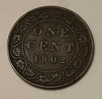 1902 CANADA LARGE ONE CENT COIN  95  COPPER    KING EDWARD V