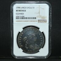 1798 DRAPED BUST DOLLAR  NGC EXTRA FINE  DETAILS  $1 LARGE EAGLE SILVER  TRUSTED