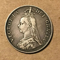 GREAT BRITAIN   1888 LARGE SILVER DOUBLE FLORIN   VICTORIA