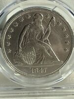 EXTREMELY FINE 1847 SEATED LIBERTY DOLLAR CLEANED RARE ONLY