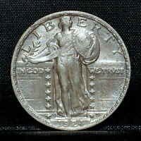 1924-P STANDING LIBERTY QUARTER  AU ALMOST UNC DETAIL  25C SILVER TRUSTED
