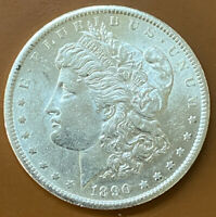 1890-S MORGAN SILVER DOLLAR BU UNCIRCULATED ORIGINAL US COIN - TCCCX