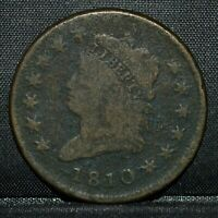 1810 CLASSIC HEAD LARGE CENT  VG  GOOD DETAILS  1C  NOW TRUSTED