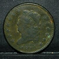 1814 CLASSIC HEAD LARGE CENT  VF  FINE DETAILS  1C PLAIN 4  TRUSTED