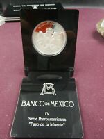 MEXICO 5 PESOS SILVER 2000 PROOF THE MAN AND HIS HORSE STEP