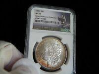 MORGAN SILVER DOLLAR1881-P NGC MINT STATE 63 HENRY LEGACY GREAT NORTHWEST COLLECTION.