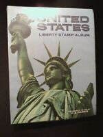 US HARRIS LIBERTY STAMP ALBUM. 124 PAGES OF STAMPS. PAGES TO