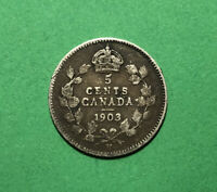 1903 H CANADA 5 CENTS SILVER FIVE CENT
