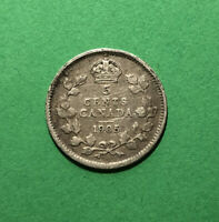 1905 CANADA 5 CENTS SILVER FIVE CENT