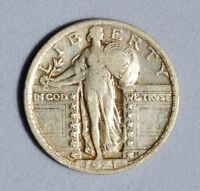 1921 STANDING LIBERTY QUARTER, VF WITH A SHARP DATE  INVBXD