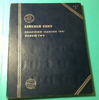 LINCOLN HEAD CENT COLLECTION OF 75 PENNIES 1941-1970 WHITMAN BOOK COMPLETE