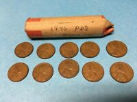 1945 LINCOLN WHEAT CENT ROLL LOT OF 50 1945 D 1945 P 1945 S WHEAT PENNIES ROLL