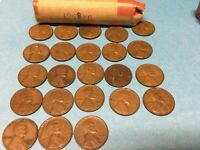 1958 LINCOLN WHEAT CENT ROLL LOT OF 50 1958 D DENVER WHEAT PENNIES ROLL
