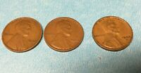 1944 P D S LINCOLN WHEAT CENT 1944 D 1944 P 1944 S LOT OF 3 WHEAT PENNIES