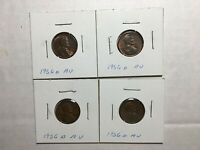 1956 D LINCOLN WHEAT CENT LOT OF 4  AU ?