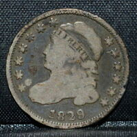 1829 CAPPED BUST DIME  G GOOD  10C SILVER COIN  NOW TRUSTED
