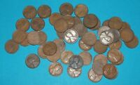 WHEAT CENT ROLL OF 50 - 1914 TO 1929 - 1914 P 7  1919S 20  AVG CIRC  8633