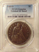 1846-O LIBERTY SEATED SILVER DOLLAR - PCGS EXTRA FINE  DETAILS - SHARP LOOKING EXTRA FINE  COIN