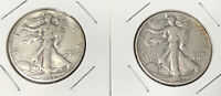 1944P&D STANDING LIBERTY SILVER HALF DOLLARS IN HOLDERS $1 FV