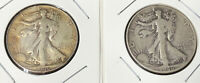 1946P&D STANDING LIBERTY SILVER HALF DOLLARS IN HOLDERS $1 FV 1