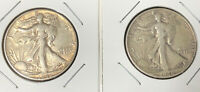 1946P&D STANDING LIBERTY SILVER HALF DOLLARS IN HOLDERS $1 FV 2