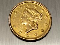 1849 UNITED STATES ONE DOLLAR GOLD COIN $1 LIBERTY TYPE 1