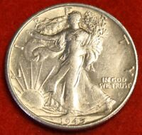 1945-S WALKING LIBERTY HALF DOLLAR AU BEAUTIFUL COIN CHECK OUT STORE WL436