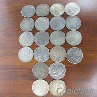 20 PC LOT PEACE SILVER ONE DOLLAR $1 COINS OLD USED CIRCULAT