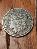 1879 CC MORGAN SILVER DOLLAR, APPEARS EXTRA FINE . '79CC GROWING IN VALUE E MONTH
