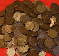 LINCOLN WHEAT CENT PENNY 1940-PD THRU 1958-PD 5000 COIN/100 ROLLS G-EXTRA FINE  COLLECTOR