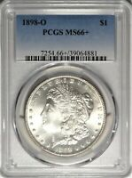 1898-O $1 PCGS MINT STATE 66 GEM PLUS UNCIRCULATED NEW ORLEANS MORGAN SILVER DOLLAR COIN