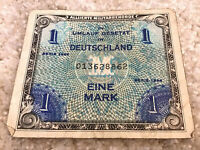 ALLIED MILITARY CURRENCY. 1 MARK BANKNOTE. GERMANY. SERIE 1944. WWII NOTE.