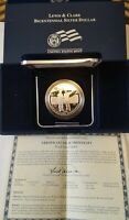 2004P LEWIS AND CLARK BICENTENNIAL PROOF SILVER $1. ALL OGP -GEM PROOF- W/ COA